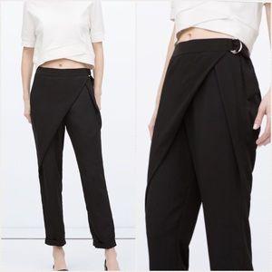 Zara wraparound front trousers